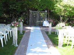 Captivating Simple Outside Wedding Ideas Outdoor Decoration On Decorations With