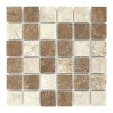 tiles style selections mesa mixed rust and beige glazed