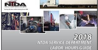 100 Semi Truck Trailers NTDA Releases 2018 Service Department Labor Hours Guide Trailer