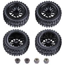 100 Rims Truck 4PcsLot 22 Inch RC 110 Monster Tires Wheels 12mm Foam