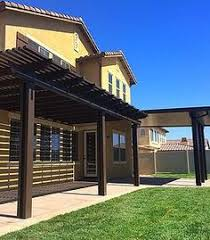 Alumawood Patio Covers Phoenix by Alumawood Lattice Patio Cover In Spanish Brown Greenbee Patio
