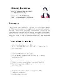 Teachers Resume Sample Primary School Teacher Cv