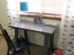 Free Plans To Build A Computer Desk by Ana White Simple Small Trestle Desk Diy Projects