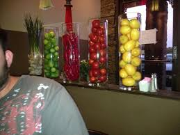 Clear Tall Cylindrical Vases With Fruit Inside Peppers For The Man Too Glass VaseKitchen DecorPepperWedding