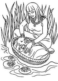 Jochebed And Baby Moses Week Bible Story Coloring Page