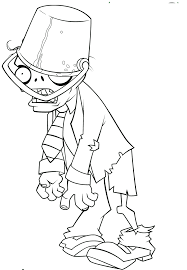 Free Printable Plants Vs Zombies Coloring Pages For Kids Crafts