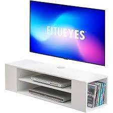 fitueyes tv schrank weiss tv board hängend für 43 55 zoll