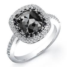 White Gold 2 ct Cushion Black Diamond Ring i really like the look of a