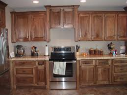 Menards Unfinished Hickory Cabinets by Stained Hickory Kitchen Cabinets Choosing Hickory Kitchen
