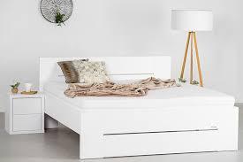 bett lorano landhausstil weiss pinie massives holz ohne lattenrost 7 zonen comfortschaum matratze ca 16cm hoch