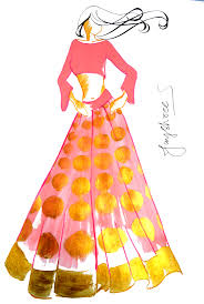 Fashion Design Sketches Of Indian Wedding Dresses Raw Mango Ethnic Collection
