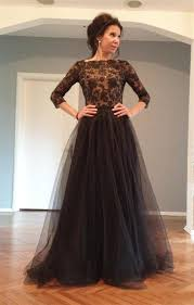 2016 back out long sleeves prom dresses party evening wear black