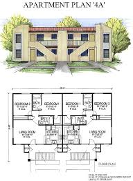 4 Unit Apartment Building Plans Units Home Mansion Cool 8