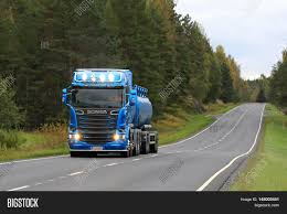 100 Big Blue Trucking SALO FINLAND Image Photo Free Trial Stock