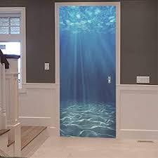 3d innentür unterwasser wandbild 77x200cm kunst abziehbilder wasserdichte vinyl diy home decor tapete für wohnzimmer schlafzimmer küche badezimmer