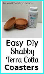Antique Terra Cotta Tile Featured On The Diy Network Show I by Easy Diy Shabby Terra Cotta Coasters Mixed Kreations