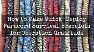 Operation Gratitude Halloween Candy by How To Make Paracord U201csurvival U201d Bracelets Operation Gratitude Blog