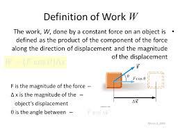 Definition Of Work W