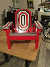 Childs Ohio State Adirondack Chair | Wood Crafts | Ohio State ... Hardwood Rocking Chair Ohio State Jumbo Slat Black Ncaa University Game Room Combo 3 Piece Pub Table Set The Best Made In Amish Chairs For Rawlings Buckeyes 3piece Tailgate Kit Products Smarter Faster Revolution Axios Shower Curtain 1 Each Michigan Spartans Trademark Global Logo 30 Padded Bar Stool