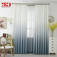 aliexpress com buy grey gradient color curtains for living room