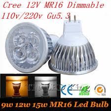 led spotlight gu10 gu5 3 e27 mr16 dimmable bulb 220v 110v 12v led