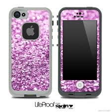 Glimmer Light Purple Skin for the iPhone 5 or 4 4s LifeProof Case