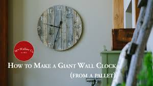 How To Make A Giant Rustic Wall Clock - YouTube Rustic Wall Clock Oversized Oval Roman Numeral 40cm Pallet Wood Diy Youtube Pottery Barn Shelves 16 Image Avery Street Design Co Farmhouse Clocks And Fniture Best 25 Large Wooden Clock Ideas On Pinterest Old Wood Projects Reclaimed Home Do Not Use Lighting City Reclaimed Barn Copper Pipe Round Barnwood Timbr Moss Clock16inch Diameter Products