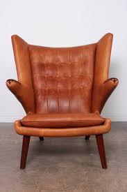 Hans Wegner Papa Bear Chair Replica by Leather Papa Bear Chair And Ottoman By Hans Wegner Hans Wegner