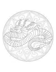 Mandalas Coloring Book Ipad App Coloreadas A Mano Faciles Free Page Print Mandala Dragon Mystical Pdf