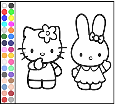 Hello Kitty Games Best Picture Coloring Pages