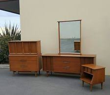Kent Coffey Blonde Dresser by Mid Century Modern Bedroom Set Period U0026 Style Antiques Ebay
