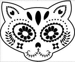 Skeleton Pumpkin Carving Patterns Free by Day Of The Dead Kitty Skull Halloween Pinterest Kitten