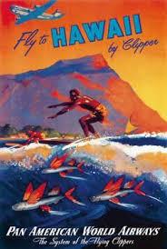 Fly To Hawaii By Clipper Pan American World Airways C1940sM Von Arenburg