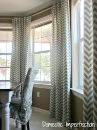 Window Curtains For Dining Room Bay Curtain Rod Back Tab Domestic Imperfection Fantastic Casual