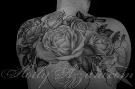 Roses And Vase Upper Back In Prog BWweb