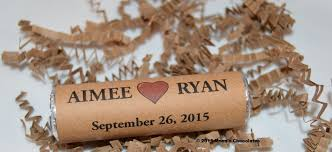 Country Rustic Themed Wedding Favors Personalized BreathSavers