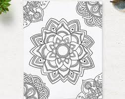 Awesome Collection Of Printable Zen Mandala Coloring Book About Description