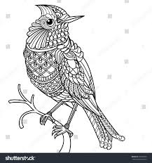 Coloring Book Pages Birds Kids Drawing And Marisa