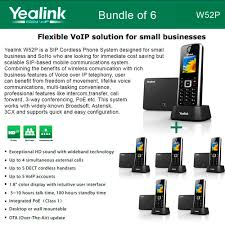 Yealink W52P 6-Pack SIP Cordless Phone IP DECT Phone Handset Base Unit Voip Phone Systems Why Should Small Businses Choose This Services Business Telephone A Us System Through Your Computer 5 Reasons Why Your Business Should Consider Telus Talks Chicago Inexpensive Internet Solutions Cloud Based Service Alburque Installation New Mexico Vtech Ip Mission Machines Sver Td1000 With 4 Phones Switch To Ezyvoice Business Phone System Teldepotcom
