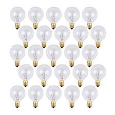 25 pack clear g40 globe light bulbs for patio string lights fits