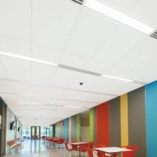 Tectum Lay In Ceiling Panels linear lighting integration armstrong ceiling solutions u2013 commercial