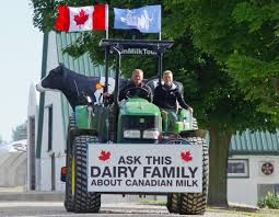 100 Milk Truck Accident Ontario Woman Touring Country On A Tractor To Promote Canadian Dairy