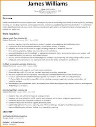Sample Resume Administrative Assistant Templates Ma Examples Medical Excellent Canada Hospital Full
