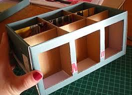 faire des boîtes de rangement à base de récup