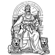 The King Saul David And Goliath B W Coloring Pages