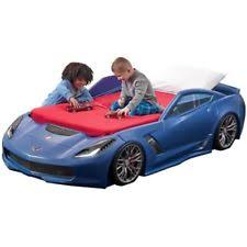 Step2 Corvette Z06 Toddler to Twin Car Bed Blue
