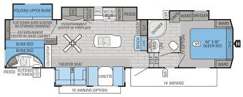 Fifth Wheel Bunkhouse Floor Plans by 2016 Eagle Fifth Wheel Floorplans U0026 Prices Jayco Inc