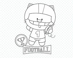 50 OFF Football Cat Player Stamp