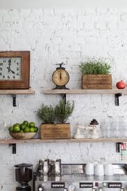 Display Your Treasured Kitchen Items On Open Industrial Shelves