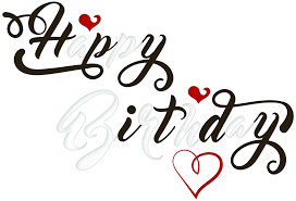 Birthday Black and White PNG Transparent Clip Art Image is View full size